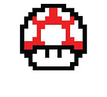 8-Bit Mario Nintendo Mushroom Red Photographic Print