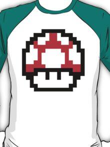 8-Bit Mario Nintendo Mushroom Red T-Shirt