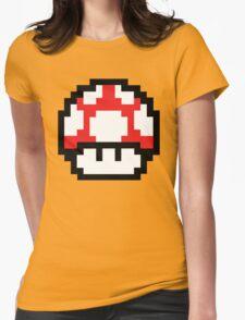 8-Bit Mario Nintendo Mushroom Red Womens T-Shirt