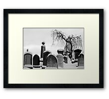Mount Jerome cemetery in the snow Framed Print