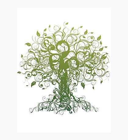 Meditate, Meditation, Spiritual Tree Yoga T-Shirt  Photographic Print
