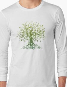 Meditate, Meditation, Spiritual Tree Yoga T-Shirt  Long Sleeve T-Shirt