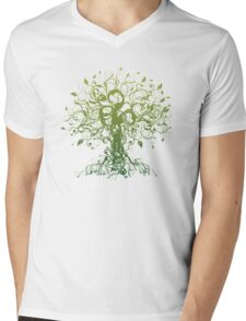 Meditate, Meditation, Spiritual Tree Yoga T-Shirt  Mens V-Neck T-Shirt