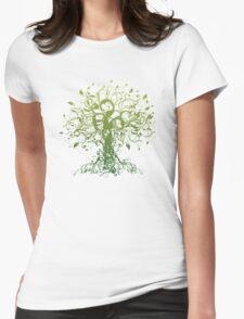 Meditate, Meditation, Spiritual Tree Yoga T-Shirt  Womens Fitted T-Shirt