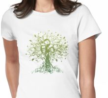 Meditate, Meditation, Spiritual Tree Yoga T-Shirt  Womens Fitted T-Shirt