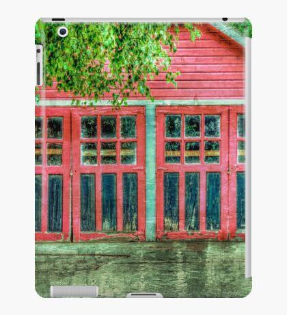 Red Garage iPad Case/Skin