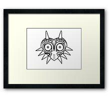 Majoras Mask Doodle Zelda Nintendo Framed Print