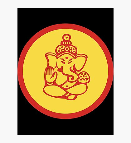 Yoga Ganesh T-Shirt Photographic Print