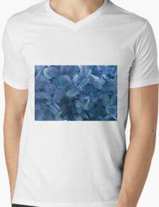 Blue, Blue Hydrangeas Mens V-Neck T-Shirt