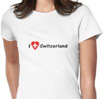 Ich Liebe Die Schweiz - I love Switzerland - Hopp Schwiiz - T-Shirt & Top Womens Fitted T-Shirt