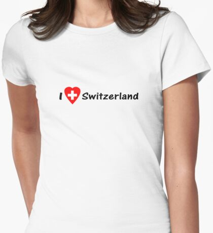Ich Liebe Die Schweiz - I love Switzerland - Hopp Schwiiz - T-Shirt & Top Womens Fitted T-Shirt