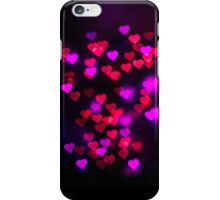 Love heart bokeh iPhone Case/Skin