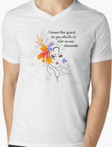 I Honor The Spirit in You Which is Also in Me Mens V-Neck T-Shirt