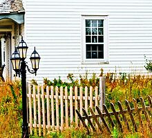 House with Fence and Lamp by bengraham