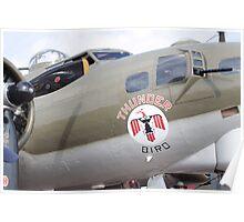 B-17 Bomber Mascot Poster