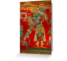 Ancient Mayan Image at the Anthropological Museum in Mexico City Greeting Card