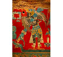 Ancient Mayan Image at the Anthropological Museum in Mexico City Photographic Print