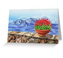 Amalfi Coast Italy Mediterranean Seascape Greeting Card