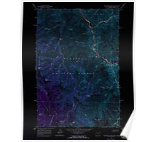 USGS Topo Map Oregon Deadhorse Ridge 279584 1963 24000 Inverted Poster