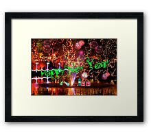 Happy New Year Redbubblers!! Framed Print