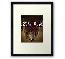 Word: Joshua Framed Print