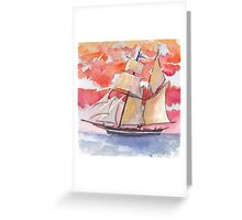 The Pride of Baltimore X Greeting Card