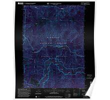 USGS Topo Map Oregon Silver Peak 281512 1998 24000 Inverted Poster