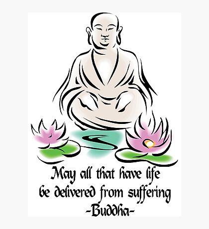 Vegetarian Quote Buddha Photographic Print