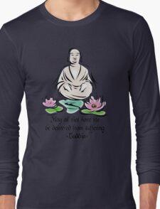 Vegetarian Quote Buddha Long Sleeve T-Shirt