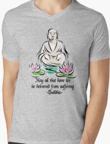 Vegetarian Quote Buddha Mens V-Neck T-Shirt