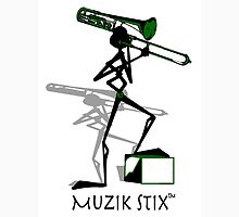 Trombonie - Muzik Stix Collection Womens Fitted T-Shirt
