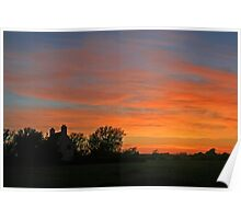 Sunset on the Levels Poster