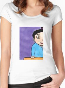 What About Goodnight Kisses? - Agnes from Despicable Me  Women's Fitted Scoop T-Shirt