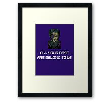 AYBABTU ~ All Your Base Are Belong To Us ~ t shirt Framed Print