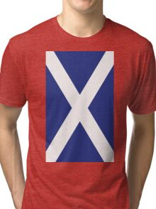 The Flag of Scotland Print Tri-blend T-Shirt