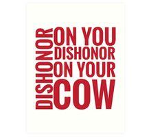 DISHONOR! Art Print