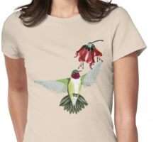 Red Throated Hummingbird Womens Fitted T-Shirt