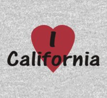 I Love California - USA T-Shirt & Decal Kids Clothes