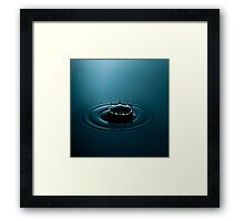 Fine Art Water Drop Photography - Crown Framed Print