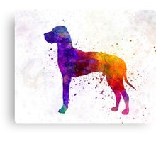 Great Dane 01 in watercolor Canvas Print