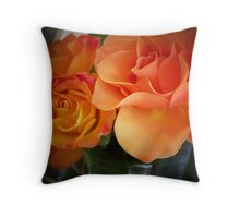 Peach Roses (1 of 2 )... Throw Pillow