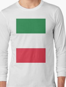 The Flag of Italy Print Long Sleeve T-Shirt