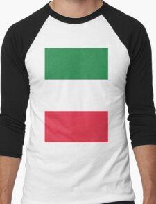 The Flag of Italy Print Men's Baseball ¾ T-Shirt