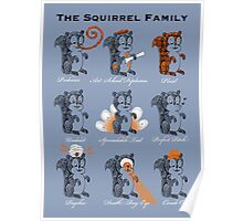 The Squirrel Family Poster