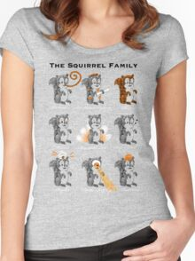 The Squirrel Family Women's Fitted Scoop T-Shirt