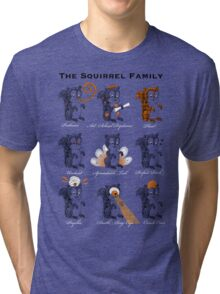 The Squirrel Family Tri-blend T-Shirt