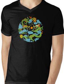 Chinese Dragon T-Shirt Mens V-Neck T-Shirt