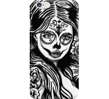 Day Of The Dead Girl 3 Illustration iPhone Case/Skin
