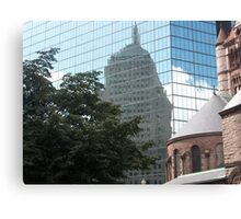 Reflections in Beantown Canvas Print