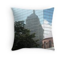 Reflections in Beantown Throw Pillow